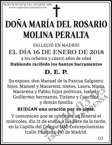 María del Rosario Molina Peralta